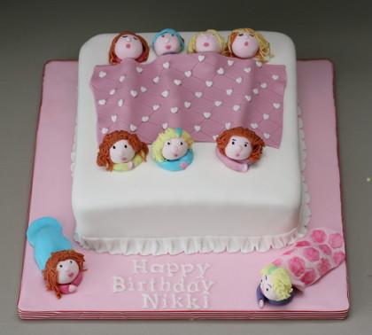 Girls Sleep Over Birthday Cakes