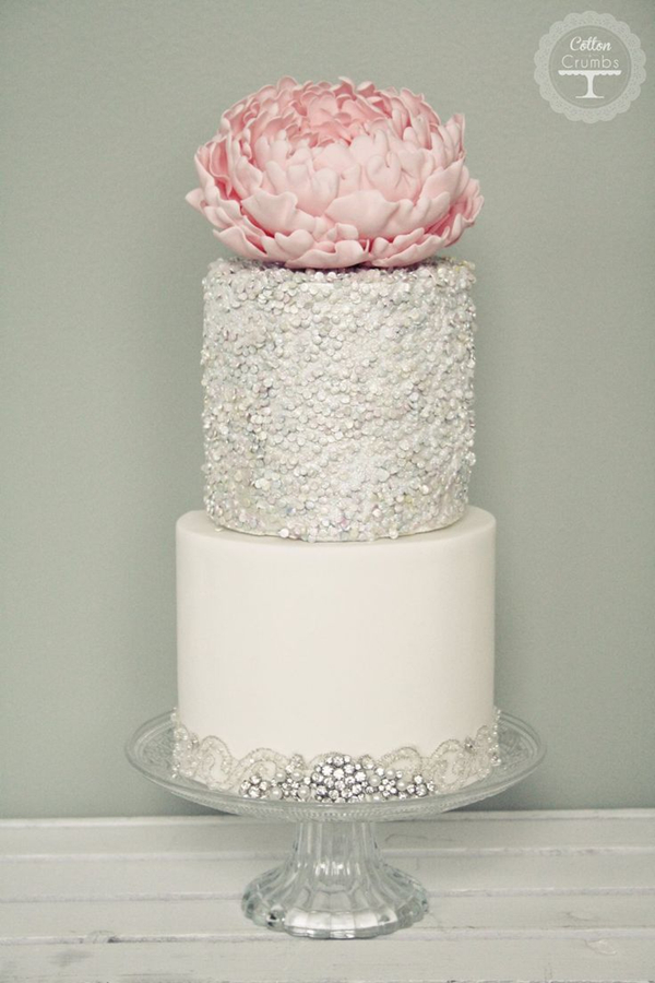 Glitter Wedding Cake