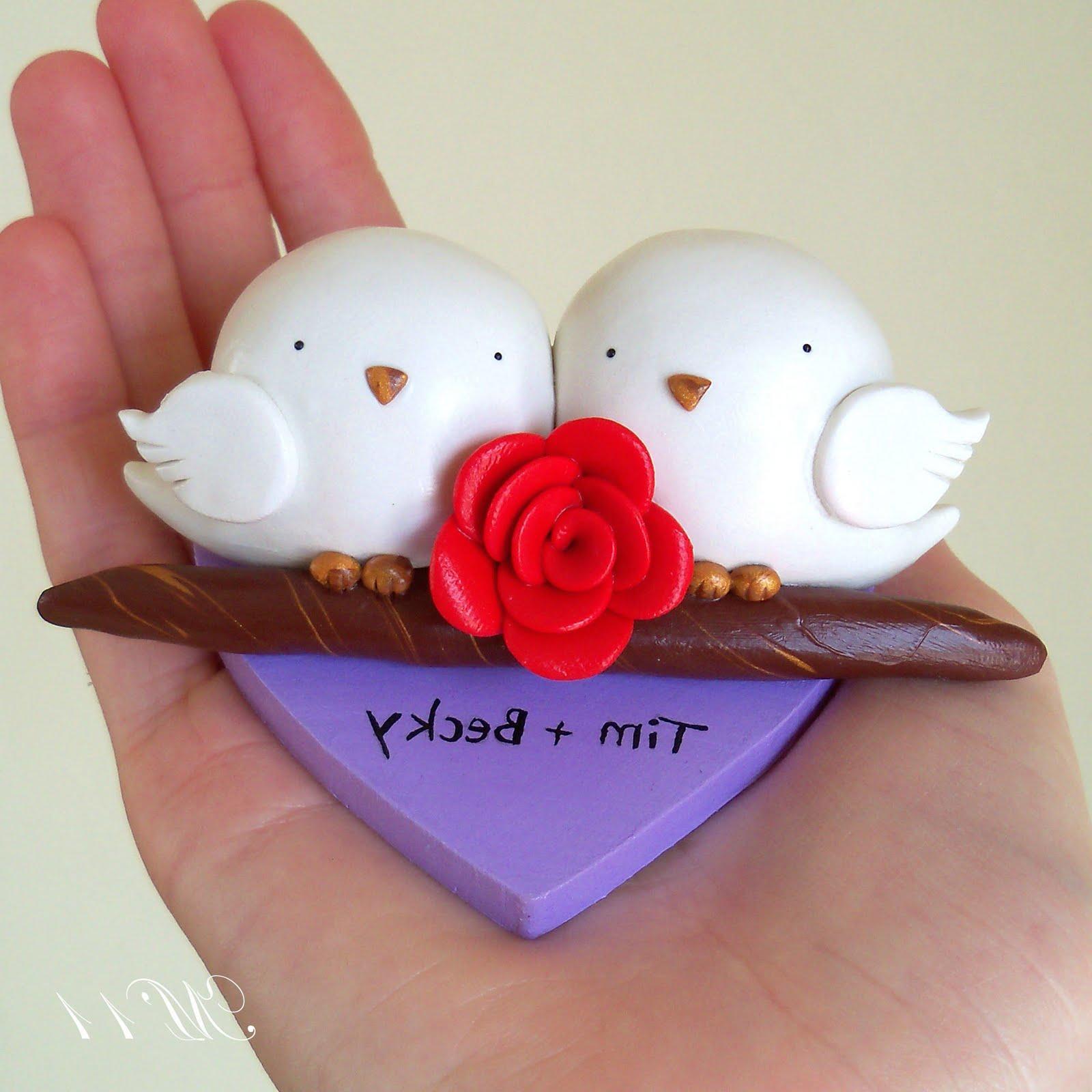 Gray and Purple Cupcake Wedding Cakes