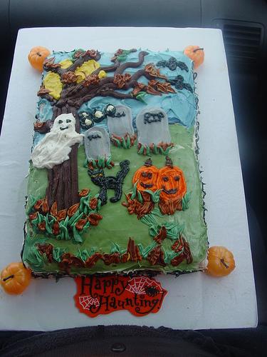 8 Photos of 1 Tier Halloween Cakes