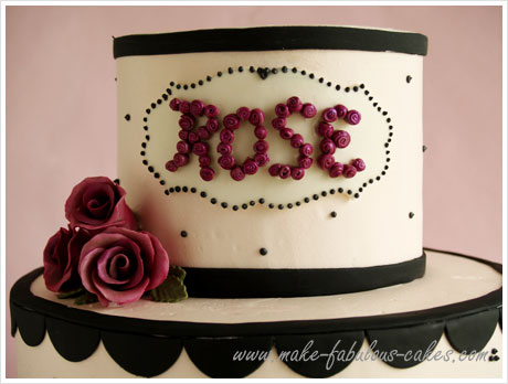 Happy Birthday Cake with Roses