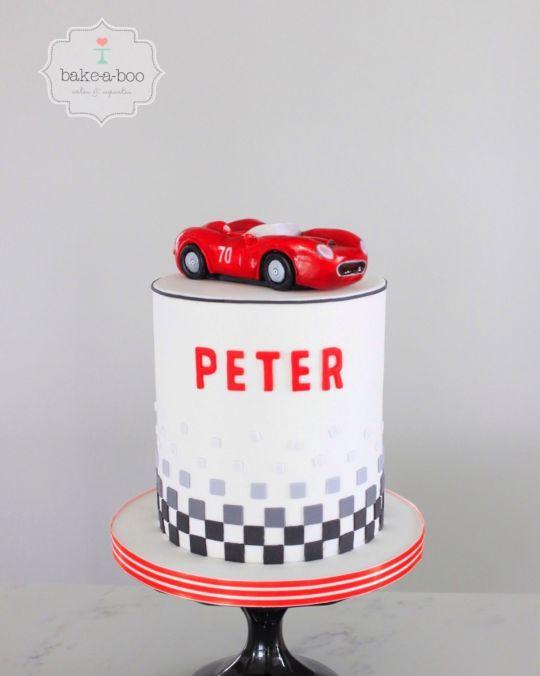 Happy Birthday Racing Cake