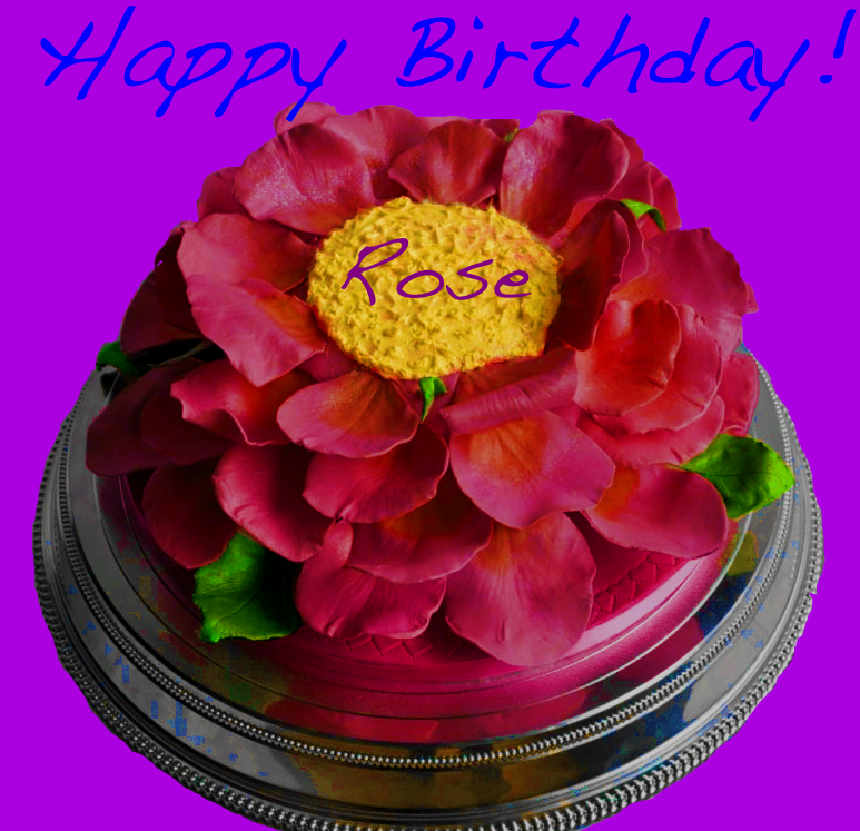 Happy Birthday Rose Cake