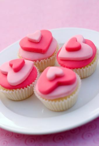 Heart Cupcakes Fondant