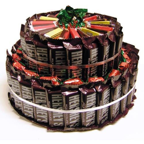 Hershey Candy Bar Cake Gift Baskets