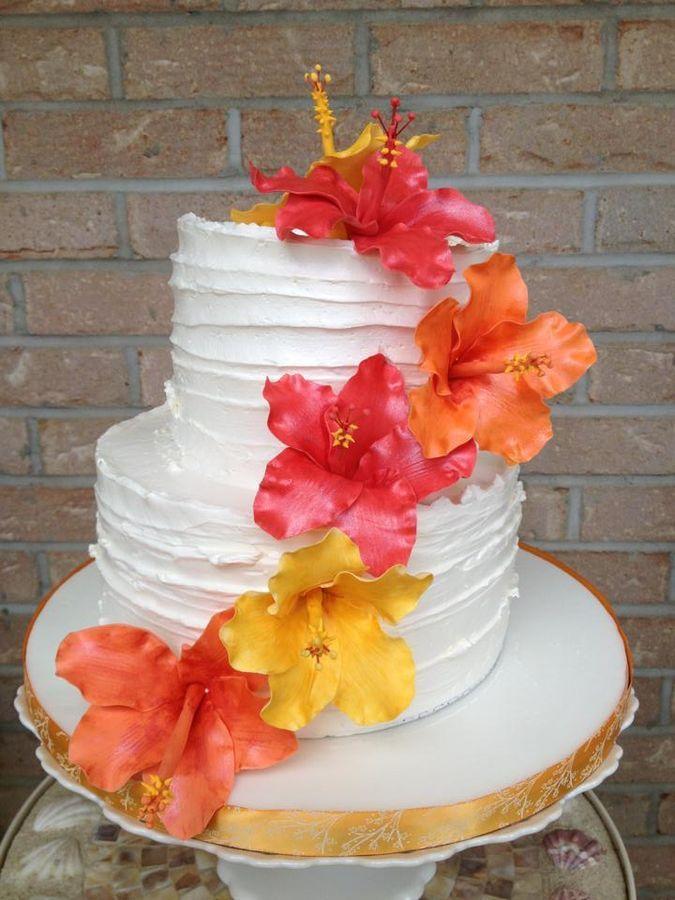 Hibiscus Flower Birthday Cake