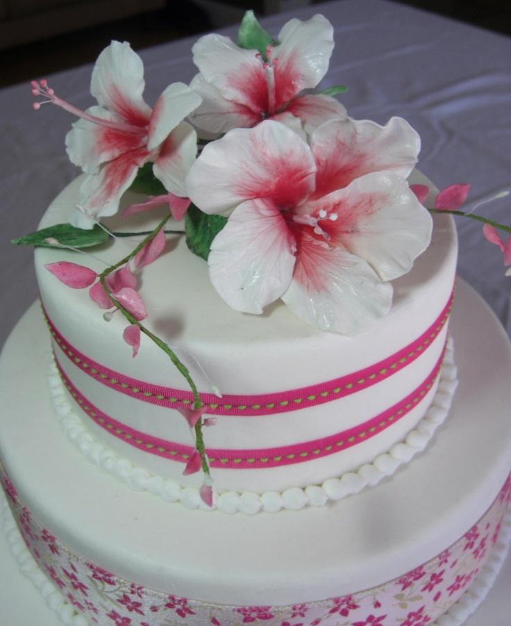 Hibiscus Sugar Flowers for Cakes