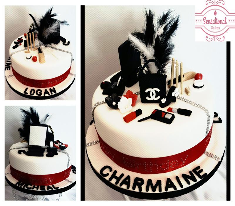 His Her Birthday Cake
