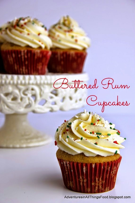 Hot Butter Rum Cupcakes