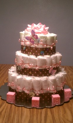 How to Make Baby Diaper Cakes
