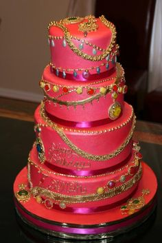 Jewel Themed Birthday Cakes