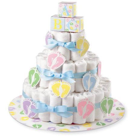 Kit for a Girl Baby Shower Diaper Cake