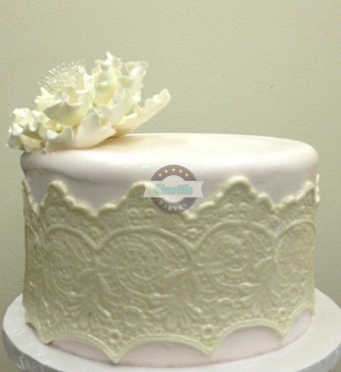 Lace Buttercream Wedding Cake