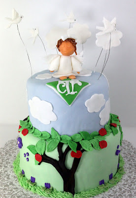 LDS Baptism Cake