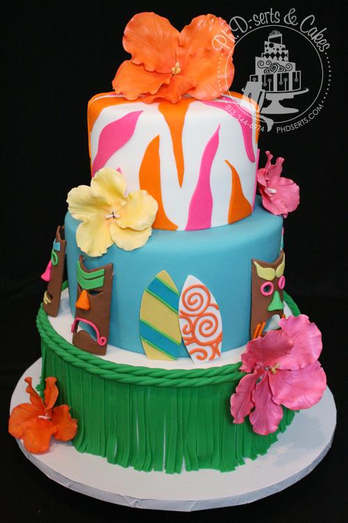 Luau Themed Cake Ideas