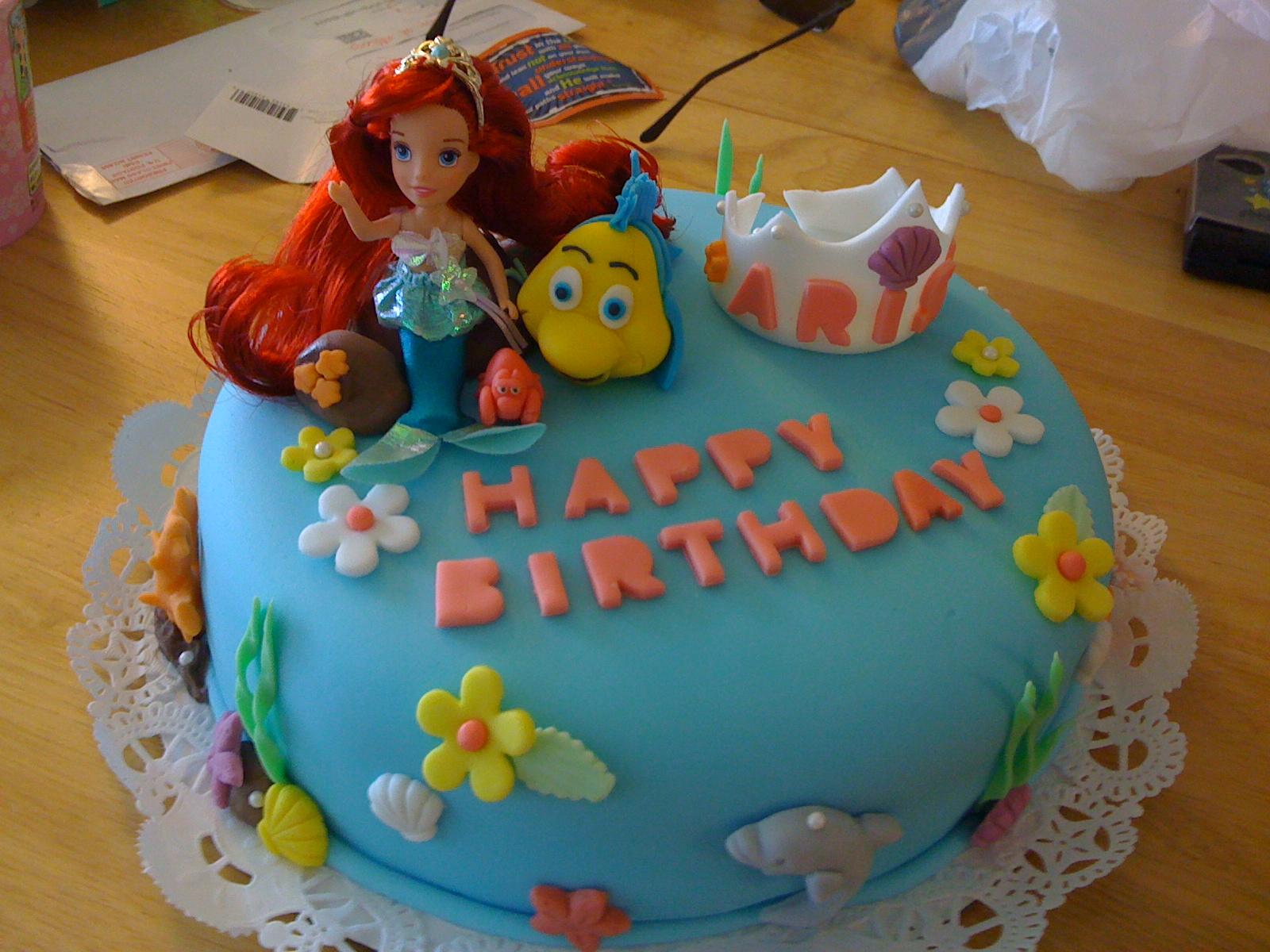 Mermaid Ocean Themed Birthday Cake