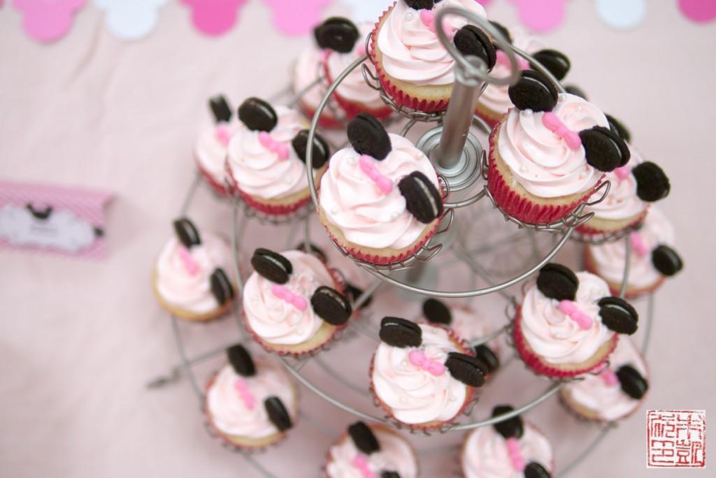 Minnie Mouse First Birthday Cupcake Cake