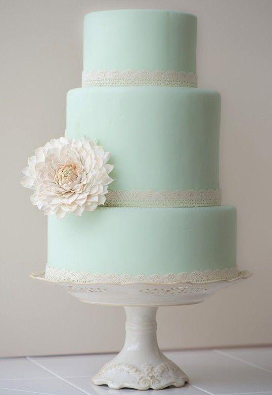 Mint Green Wedding Cake