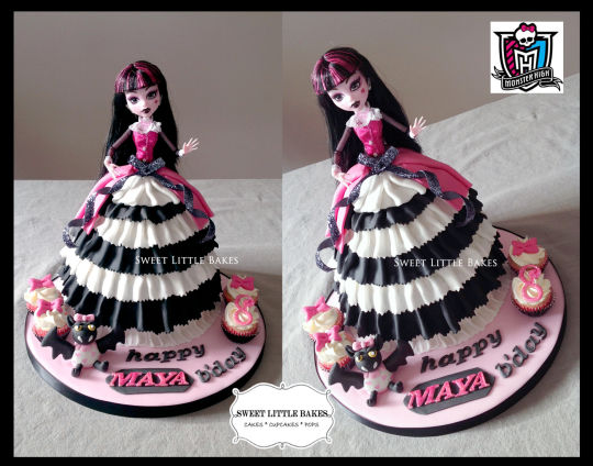 12 Photos of Cakes With Monster High Dolls 2012