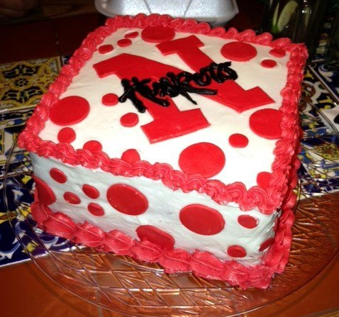Nebraska Huskers Birthday Cake