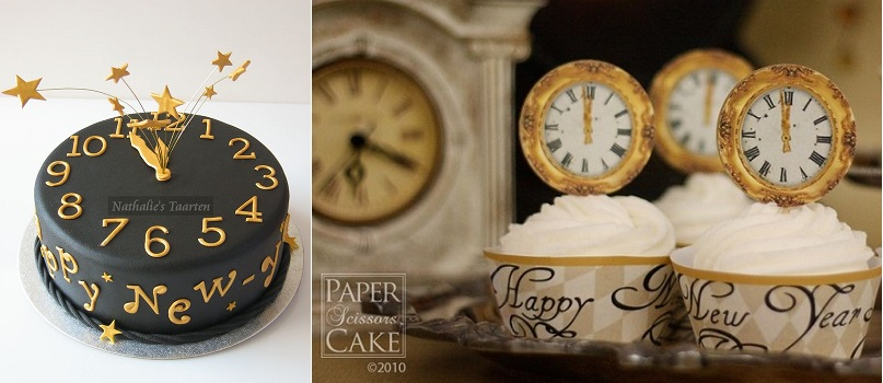 New Year's Eve Clock Cake