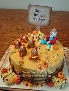November Thanksgiving Birthday Cakes