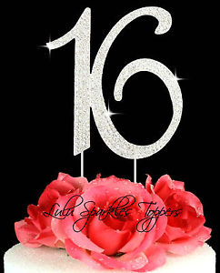Number Sweet 16 Cake Toppers