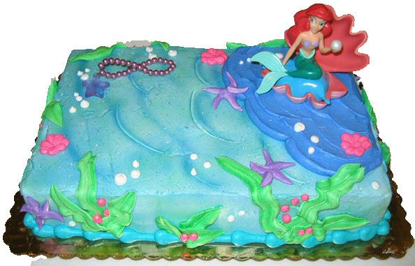Ocean and Mermaid Cake