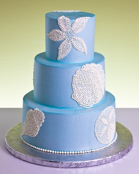 Ocean Beach Wedding Cake