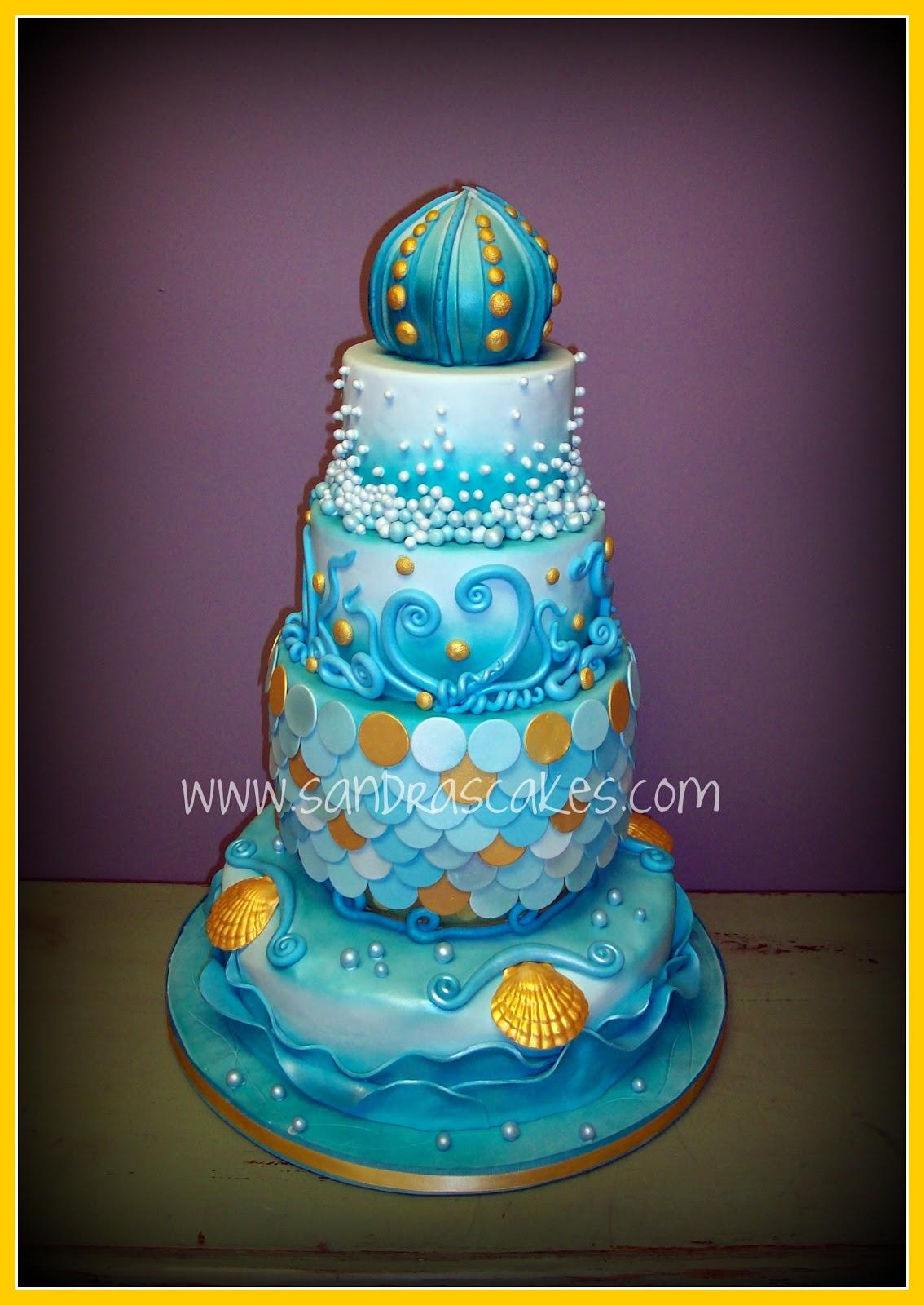 Ocean Themed Cake