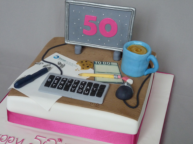 7 Photos of Fondant Cakes For The Office