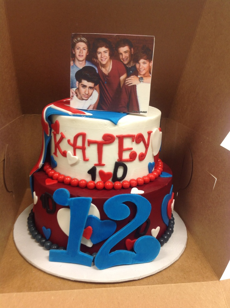 One Direction British Flag Cake