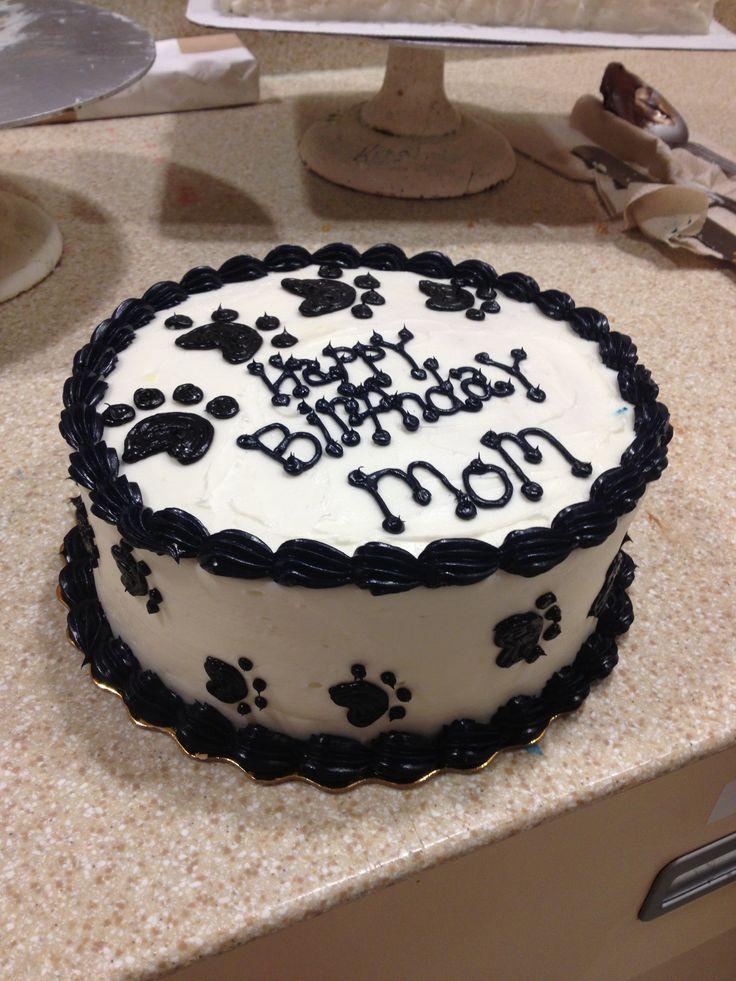 Paw Print Cake
