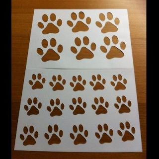 Pin To Stencil Coyote Paw Tracks Prints