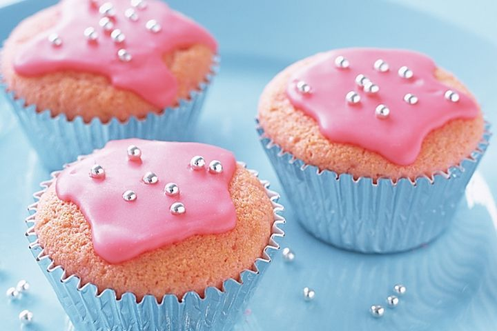 Pink Cupcakes with Frosting