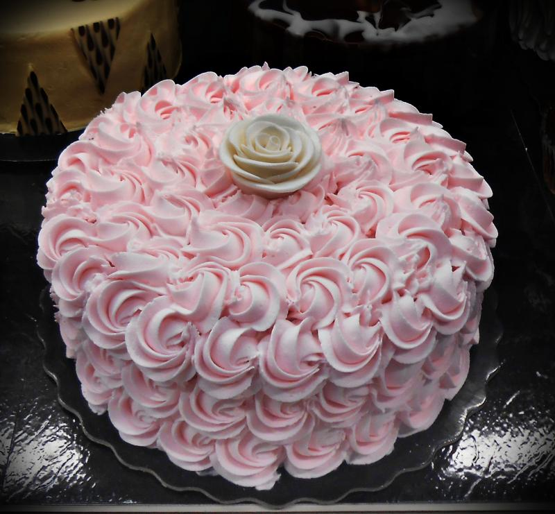 Pink Rose Buttercream Sheet Cakes