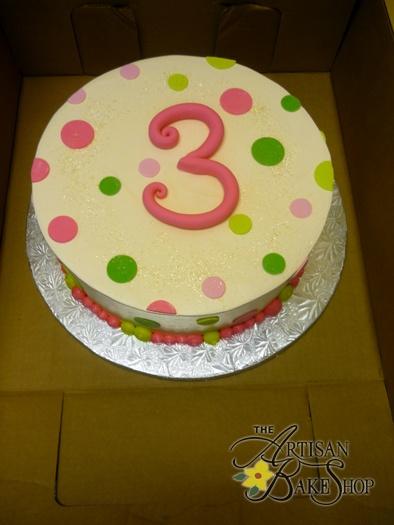 Polka Dot Buttercream Cake