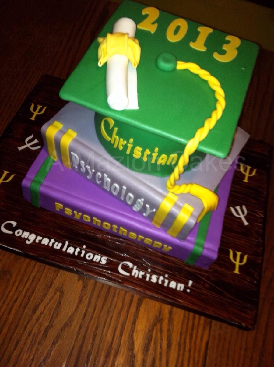 Psychology Graduation Cake Books