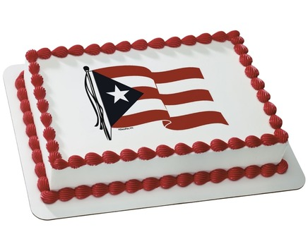 Puerto Rican Flag Birthday Cake