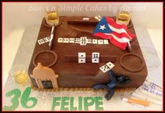 Puerto Rico Theme Birthday Cake