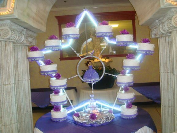 Quinceanera Cakes with Stars