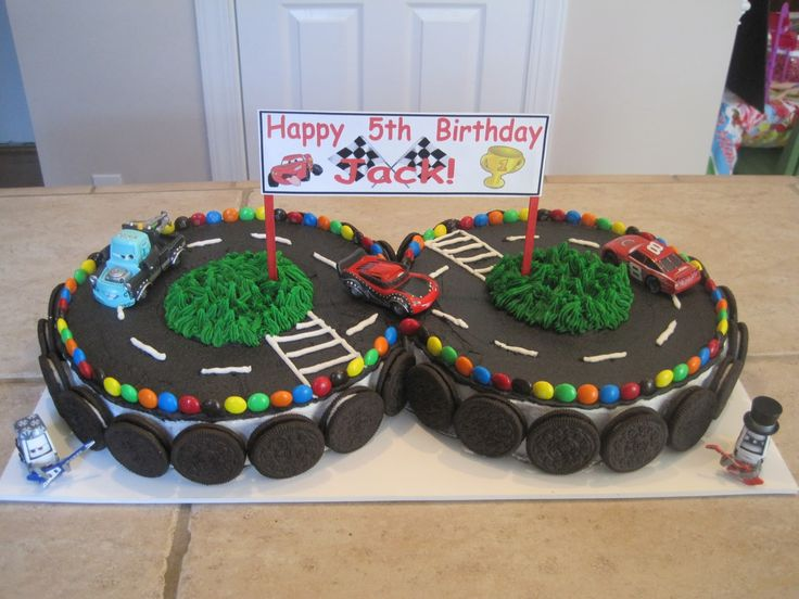 8 Photos of Track Racing Car Cakes For Boys