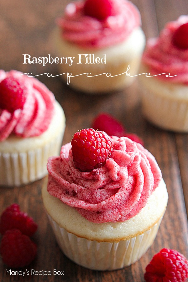 Raspberry Filled Cupcakes