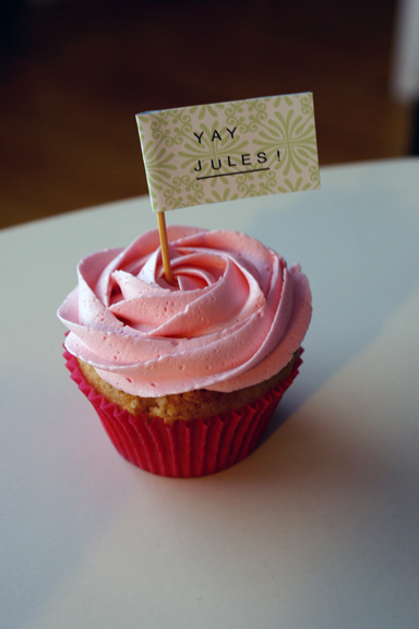 Raspberry Jam Filled Cupcakes