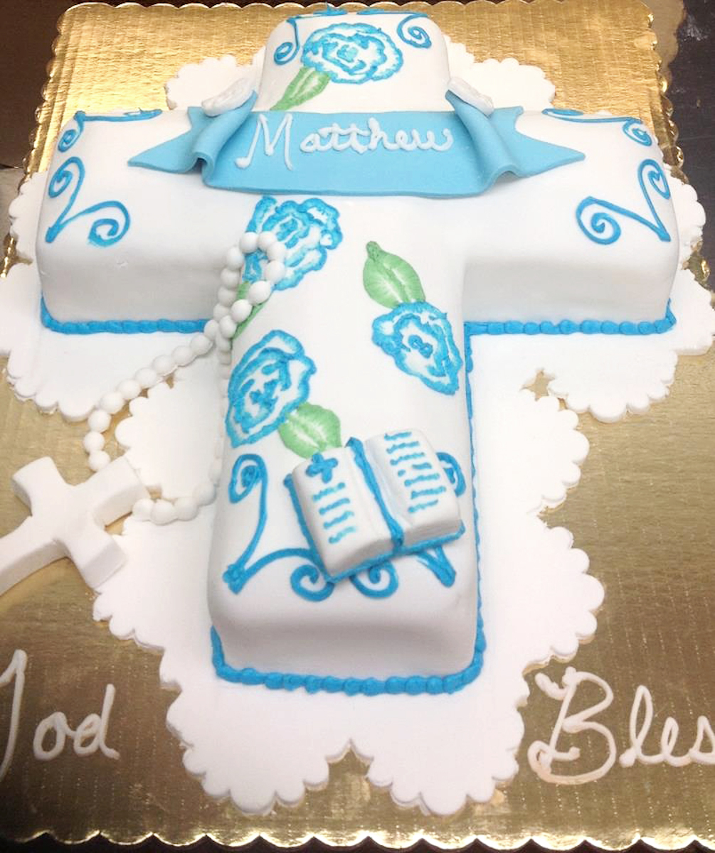 Religious Cross Birthday Cake