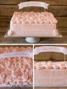 Rose Buttercream Sheet Cake