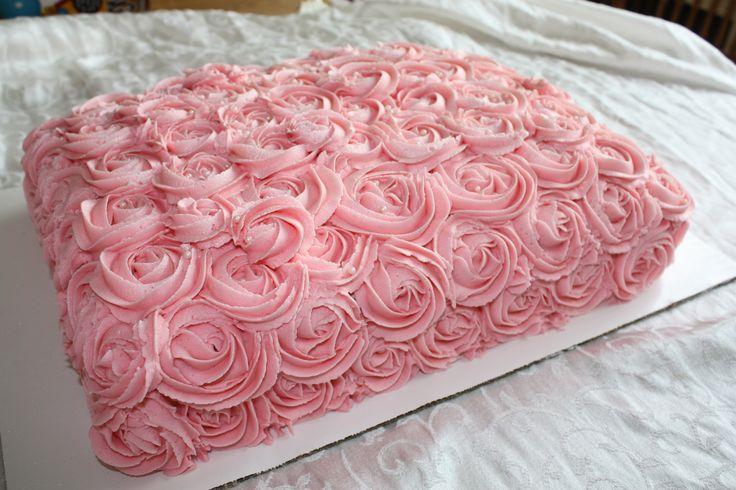 Rosette Buttercream Sheet Cake