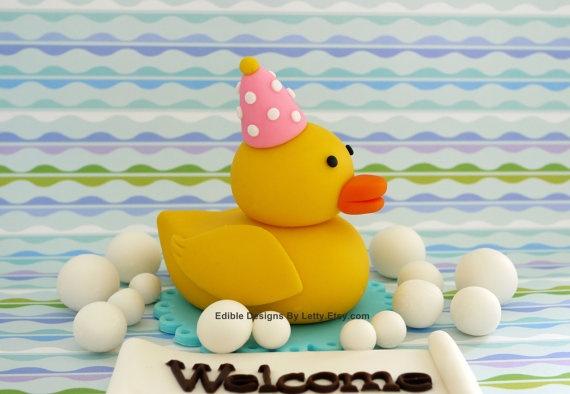 Rubber Duck Baby Shower Cake Girl