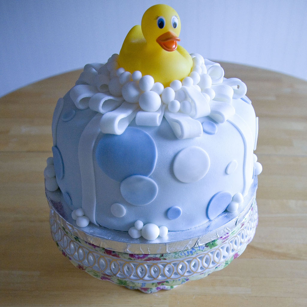 Rubber Ducky Baby Shower Cakes for Boys