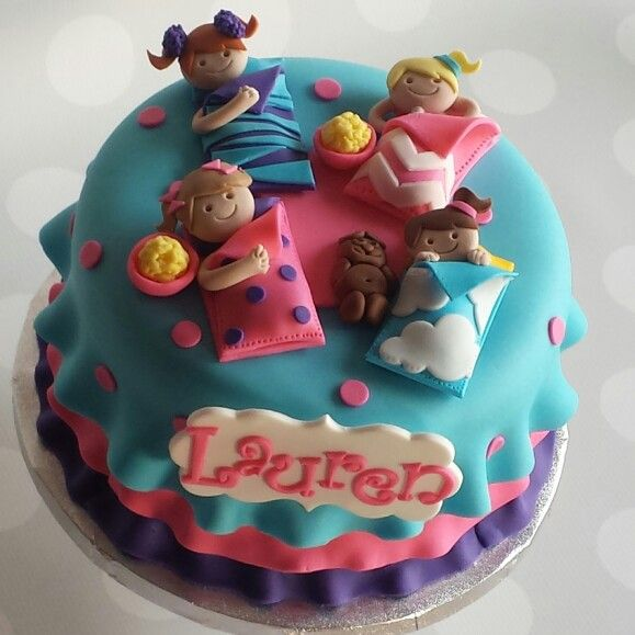 Sleep Over Birthday Cake Ideas